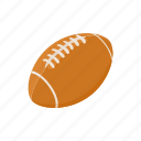 ball, cartoon, football, rugby, sport, team, white icon
