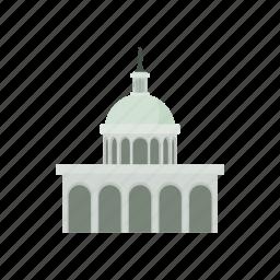 building, cartoon, government, house, usa, washington icon