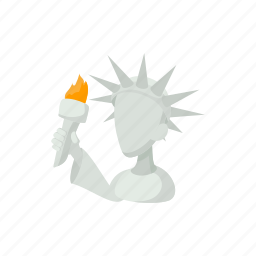 cartoon, freedom, head, liberty, monument, statue, usa icon