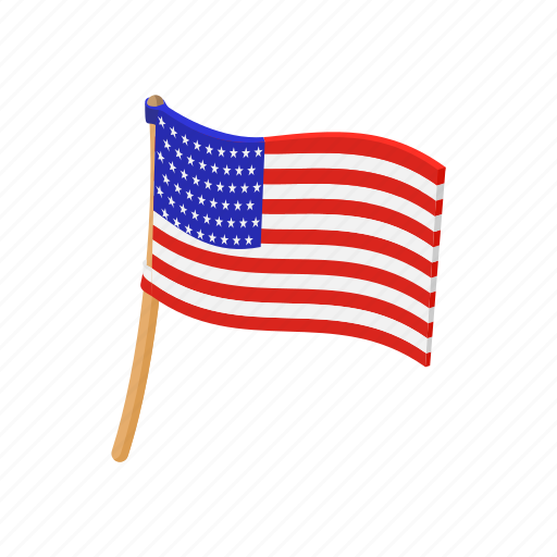 american, cartoon, flag, independence, july, pole, usa icon