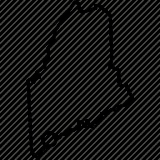 america, federal, location, maine, portland, republic, state icon