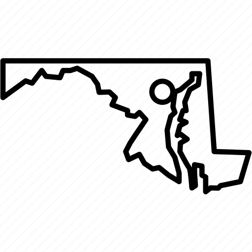 america, baltimore, federal, location, maryland, republic, state icon