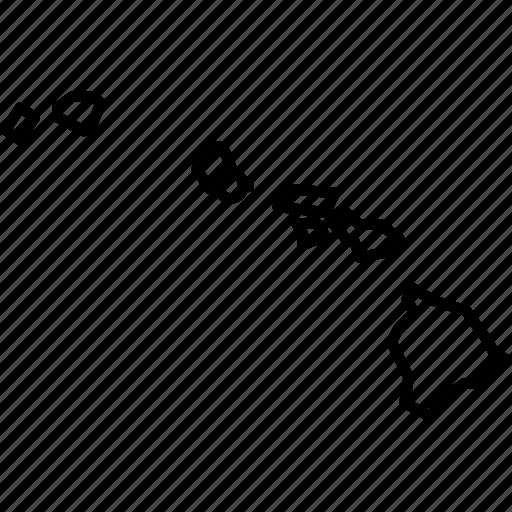 america, federal, hawaii, honolulu, island, location, state icon