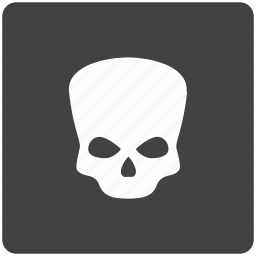 dead, death, head, skull icon