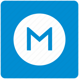 m, metropolitan, transport, underground icon