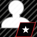 favorite, save, star, user icon
