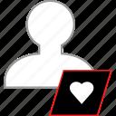 heart, love, save, user icon