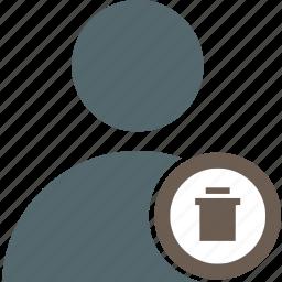 account, avatar, delete, interface, profile, trash, user icon