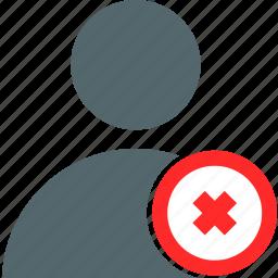 account, avatar, cancel, error, interface, profile, user icon