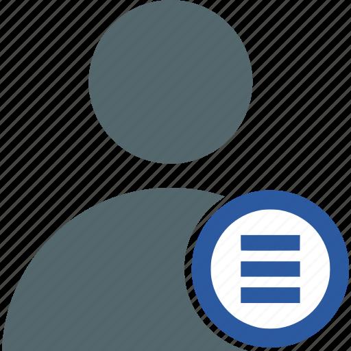 account, interaction, interface, menu, navigation, profile, user icon