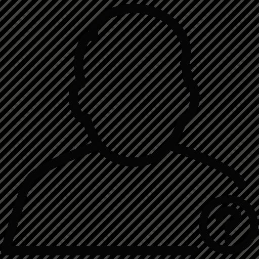 male, man, mark, person, profile, question, user icon