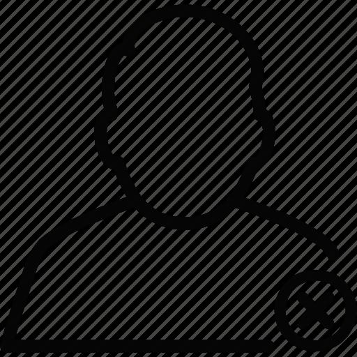 male, man, person, profile, remove, user icon