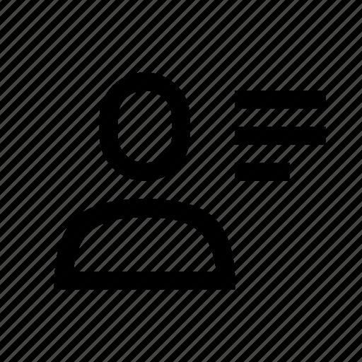 description, profile, text, user icon