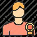 best, male, trophy, user icon