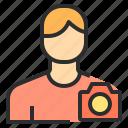 avatar, camera, male, people, profile, user icon