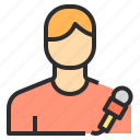 avatar, male, people, profile, reporter, user icon