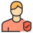 profile, people, safety, user, male, avatar icon
