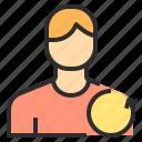 avatar, male, people, profile, undo, user icon
