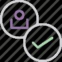account, approve, customer, profile, success, user, verify icon