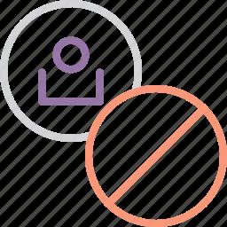 account, ban, block, close, customer, lock, user icon