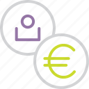 account, customer, euro, european, region, union, user icon