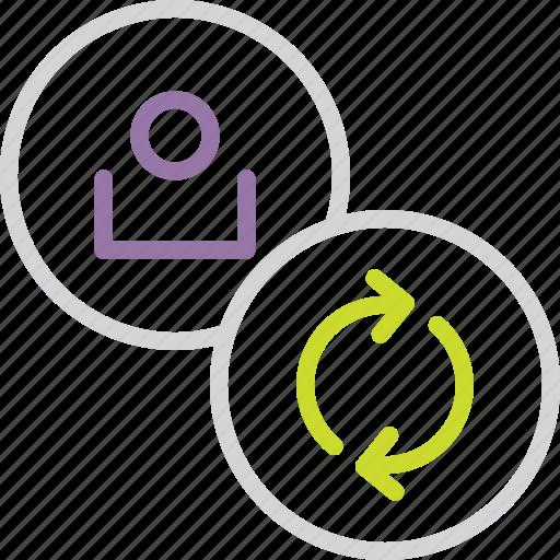 account, customer, details, modify, refresh, update, user icon