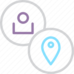 account, customer, location, place, region, settings, user icon