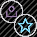 account, customer, favorite, important, popular, star, user icon