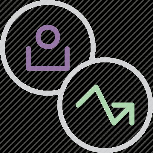 account, analysis, customer, report, statistics, stats, user icon