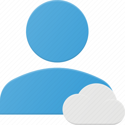 action, cloud, people, user icon