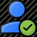 check, user, account, done, profile