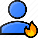 hot, user, account, profile, fire, flame