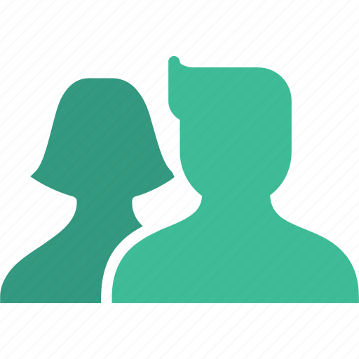 avatar, couple, discussion, group, talk, user icon