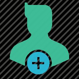 add, avatar, character, insert, man, user icon