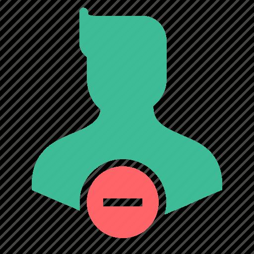 avatar, character, delete, male, man, remove, user icon