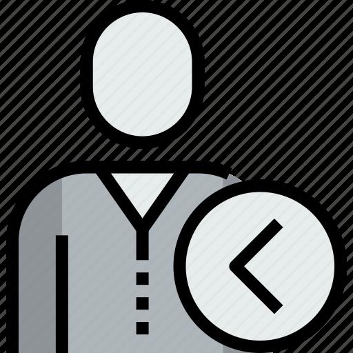 admin, avatar, face, left, person, user icon
