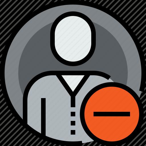 admin, avatar, circle, face, person, remove, user icon