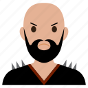 avatar, bad, beard, biker, male, man, user