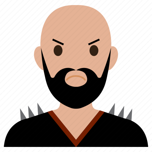 avatar, bad, beard, biker, male, man, user icon