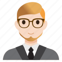 avatar, business, male, man, office, teacher, user icon