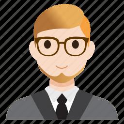 avatar, business, male, man, office, teacher, user icon