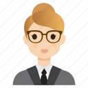 business, female, girl, lady, teacher, user, woman icon