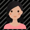 avatar, female, girl, lady, user, woman