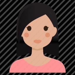 avatar, female, girl, lady, user, woman icon