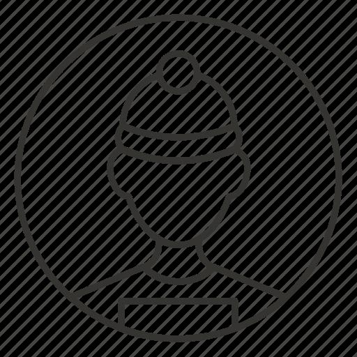 avatar, man, profile, skier, sportsman, user, winter icon