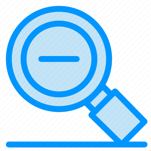 glass, less, magnify, magnifying, search, zoom icon
