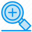 magnifier, plus, search icon