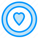 circle, heart, love icon