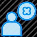 cross, delete, profile, user icon