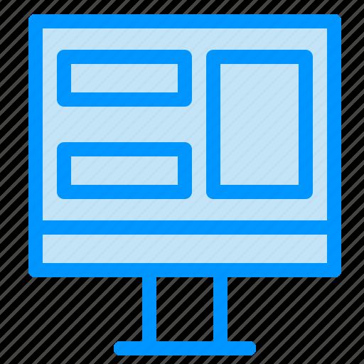 monitor, screen, window icon
